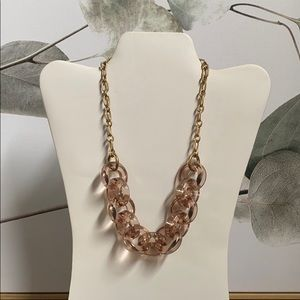 J. Crew: NWT Clear Pink Chain Necklace
